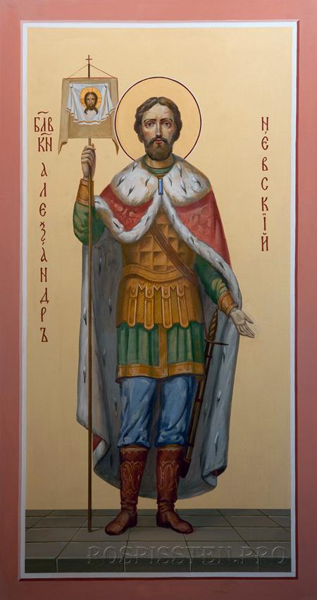 образ князя Александра Невского - роспись храма