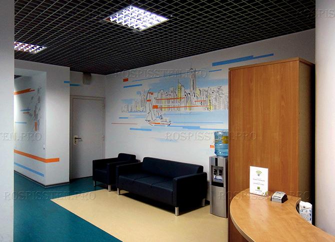 оформление стен офиса - граффити