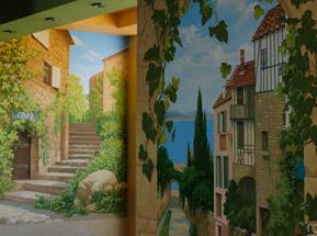 пейзажи Франции в росписи стен