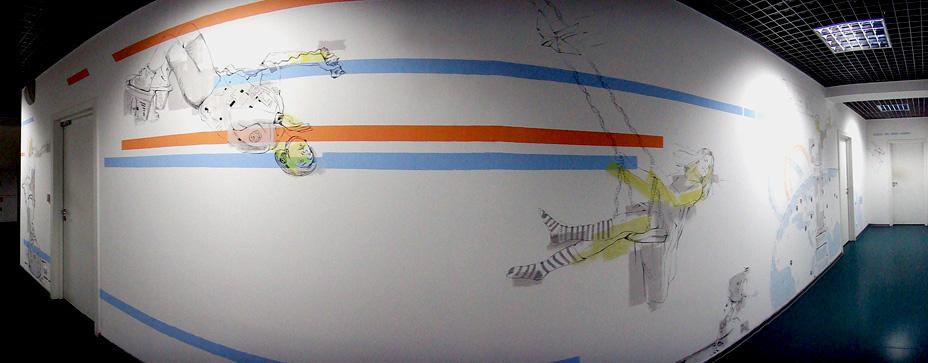 рисунки-на-стенах-офиса-коридор