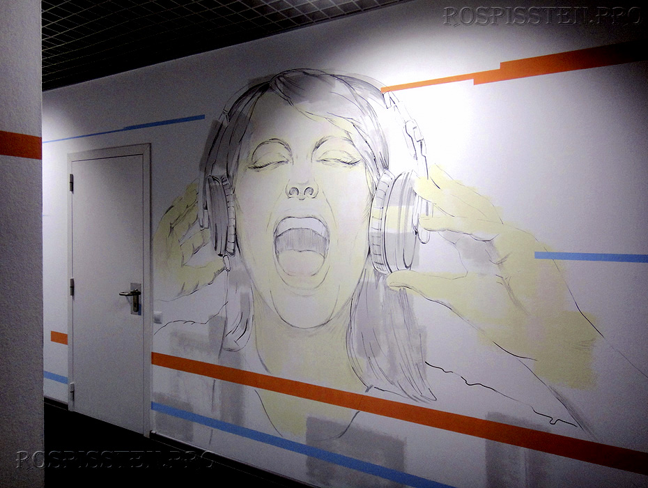 роспись стен офиса рисунки на стенах