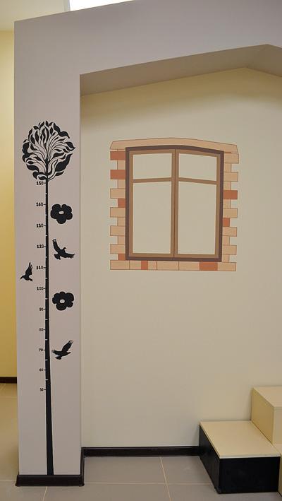 роспись стен в магазине детской одежды