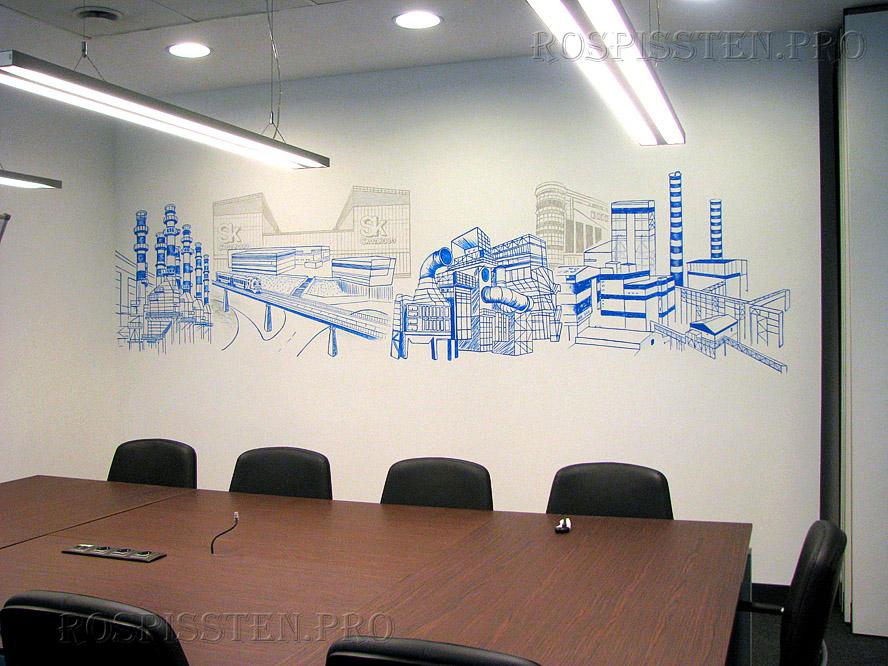 роспись стен офиса Москва