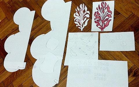 эскизы для росписи стен