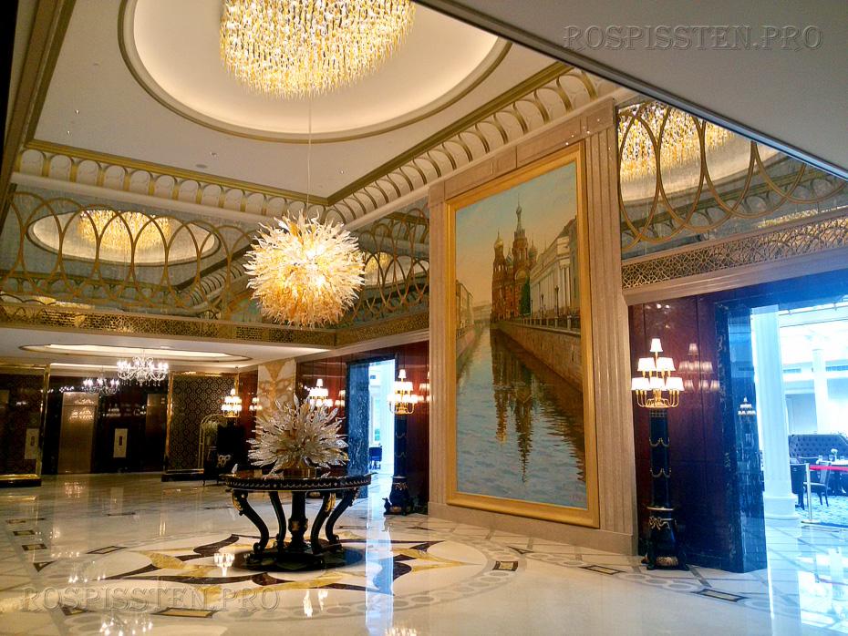 Картины-для-отеля-Лотте-СПб-лобби