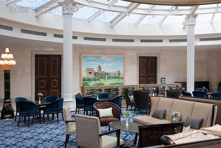картина для отеля Лотте в Санкт-Петербурге