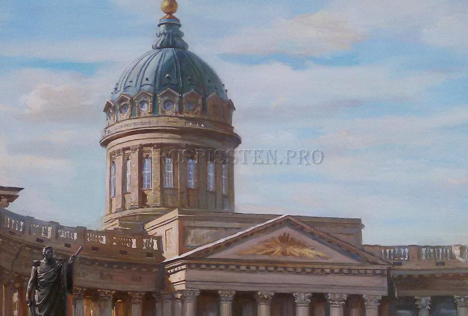 большие картины с видами Санкт-Петербурга, художник Юрий Шелыгов