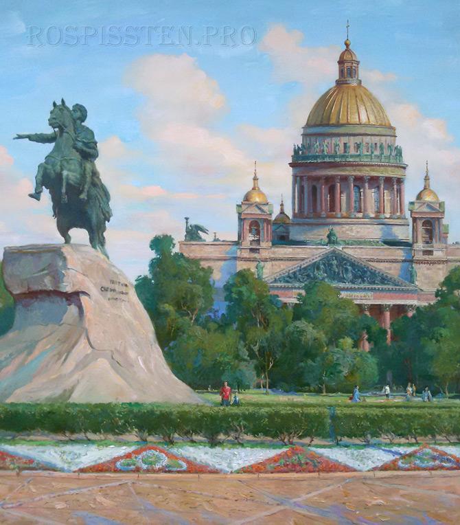 картины на холсте, пейзаж Санкт-Петербурга, художник Илья Палкин