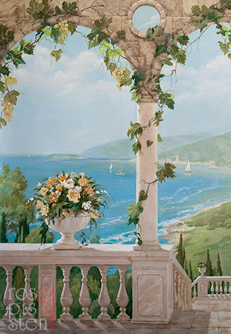 роспись-стен-итальянский-пейзаж