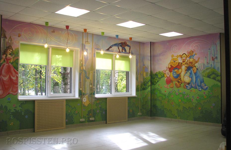роспись стен детские сюжеты мультфильмы сказочные персонажи роспись акрилом