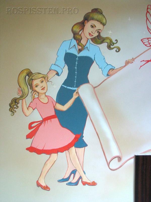 роспись-стен-дизайн-парикмахерская-для-детей