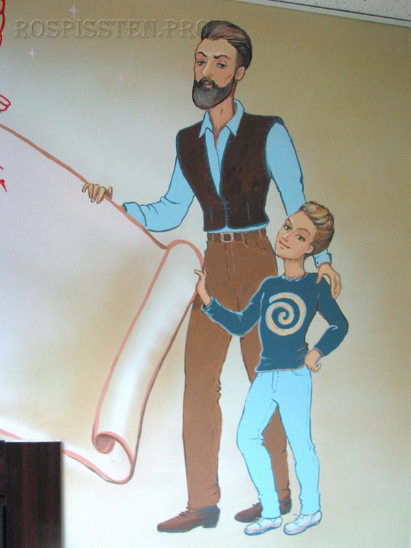 роспись-стен-персонажи-парикмахерская-для-детей