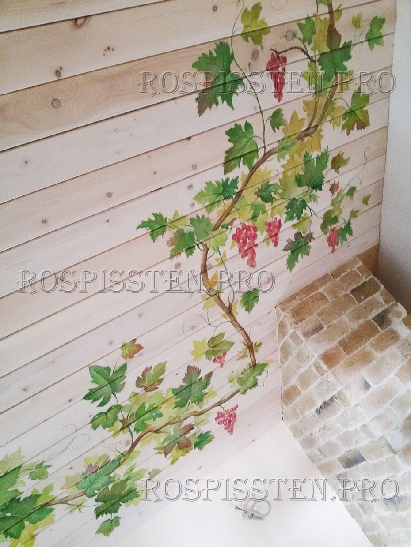 роспись деревянного потолка