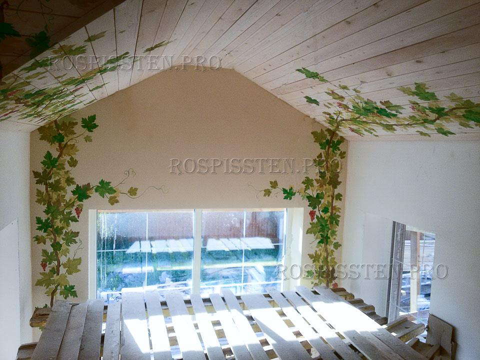 роспись потолков загородного дома