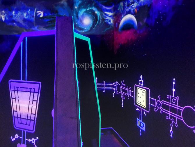 дизайн-коммерческого-игрового-помещения-роспись-светящейся-краской
