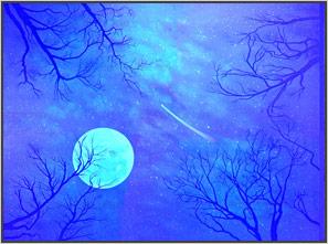 роспись-потолка-светящейся-краской-звездное-небо