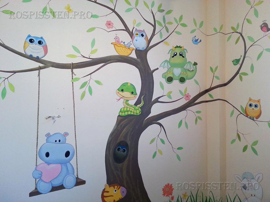 детская-комната-роспись-стен