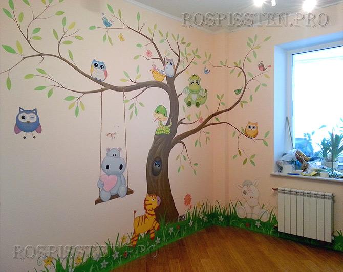 роспись-стен-детской-комнаты