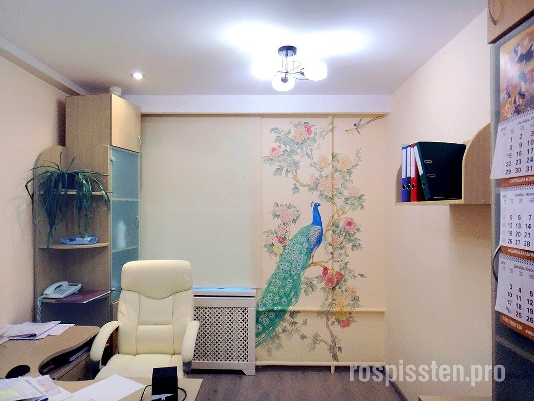 роспись-стен-в-офисе-цветы