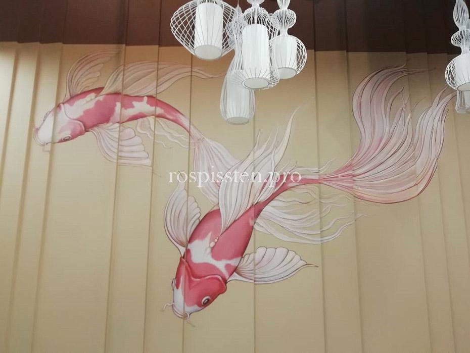 роспись-стен-японского-ресторана