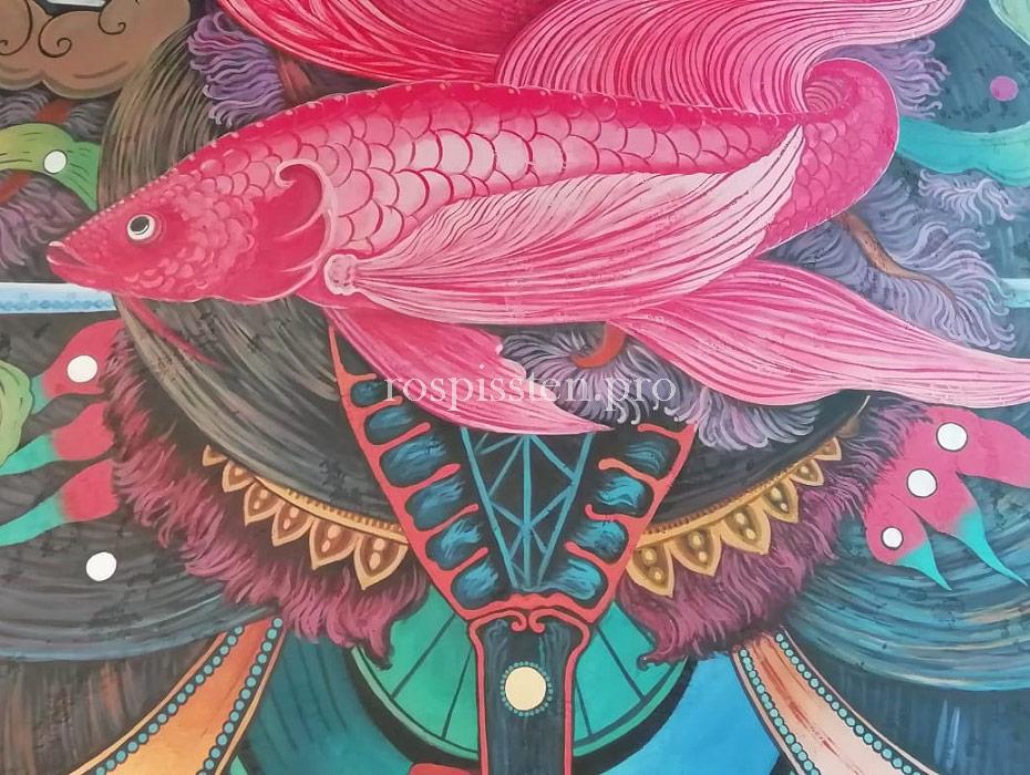 художественная-роспись-стен-ресторана-акрилом