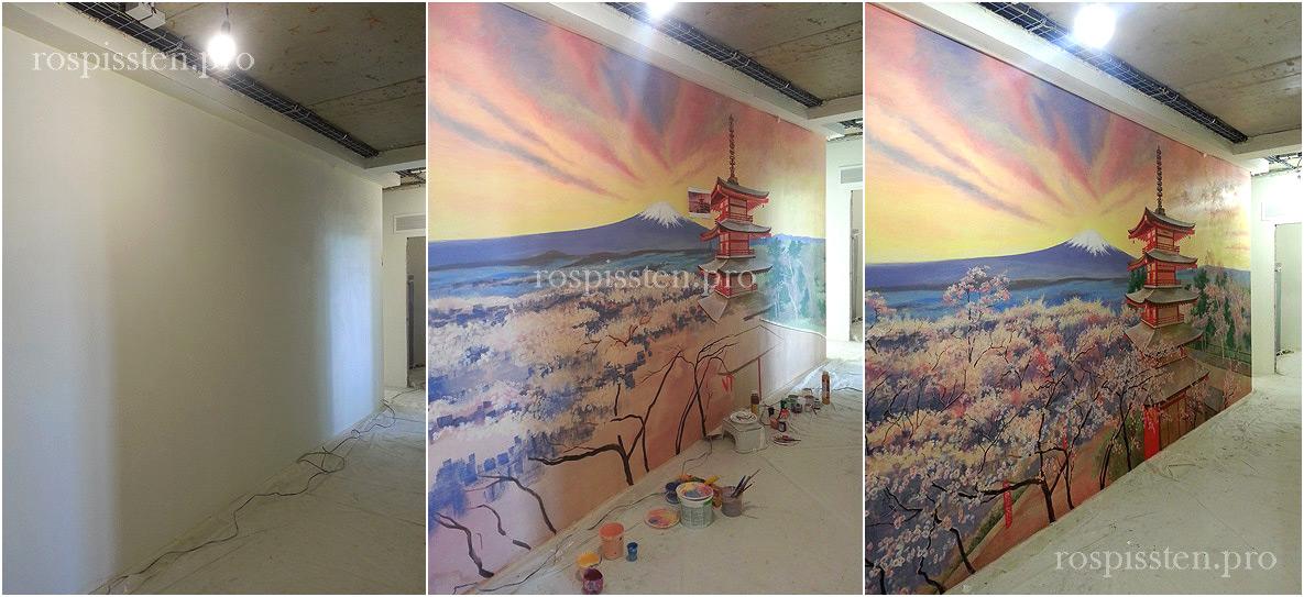 роспись-стен-акрилом-пейзажи-японии