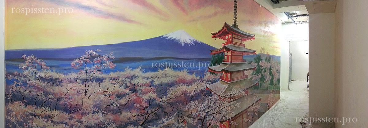 японская-роспись-стен